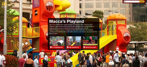 Maccas Playland microsite