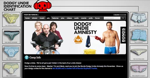Bonds Dodgy Undie Amnesty