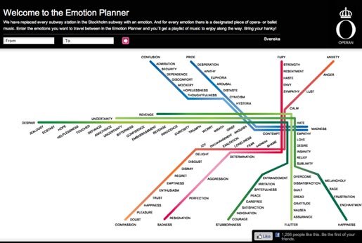 Royal Opera in Stockholm Emotion Planner