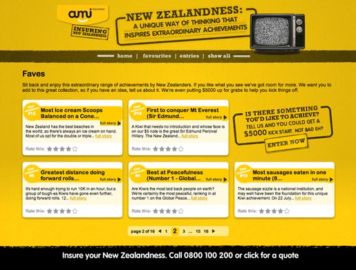 AMI Insuring New Zealandness site