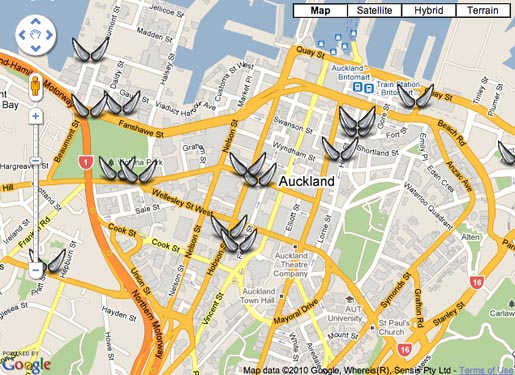 Auckland City Mission Angels Map