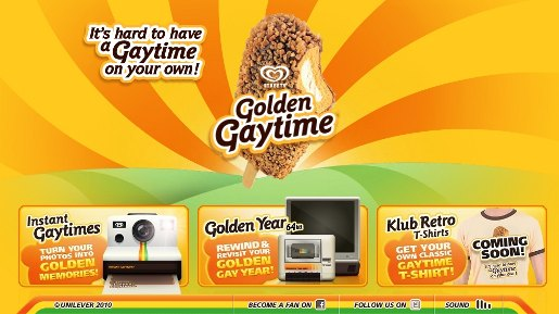 Golden Gaytime site