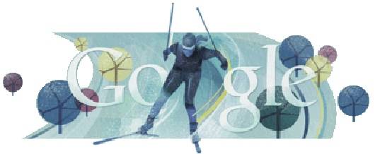 Google Cross Country Skiing Doodle
