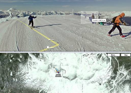 Google Snowmobile on London Mountain