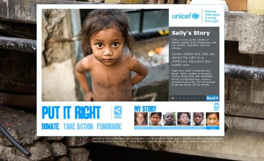 UNICEF Put it Right site
