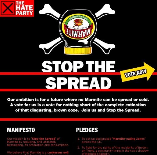 Marmite Hate Party