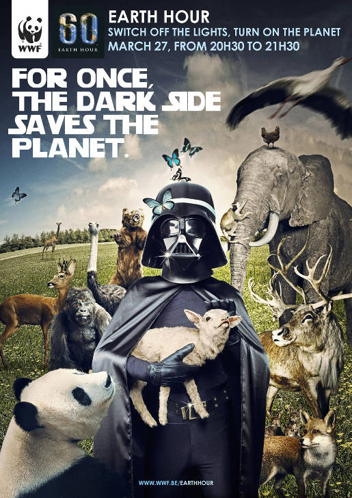 Earth Hour Dark Side Poster