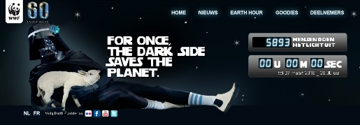 Earth Hour Dark Side site