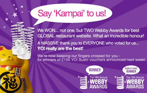 Yosushi Webby Awards