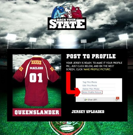 NRL Back Your State Jersey app