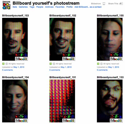 Billboard Yourself Flickr Photostream