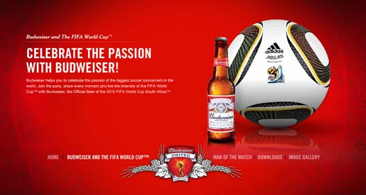 Budweiser World Cup site