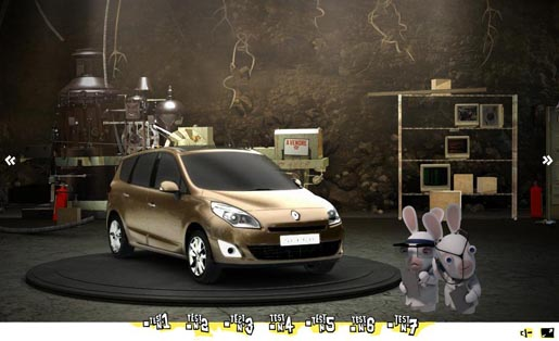 Renault Scenic Raving Rabbids Test site