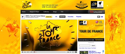 SBS Tour de France YouTube channel