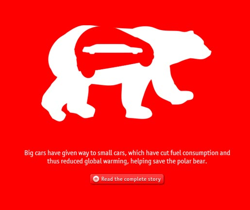 Economist Polar Bear ad on site