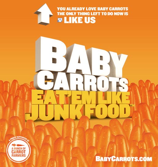Baby Carrots on Facebook