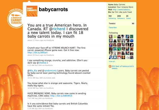 Baby Carrots Twitter site