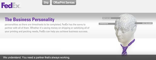 Fedex We Understand Business Personality site
