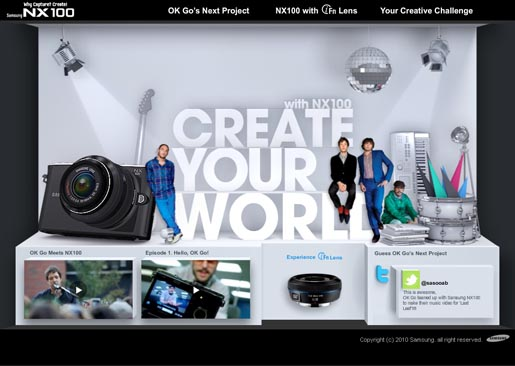 Samsung Create Your World site