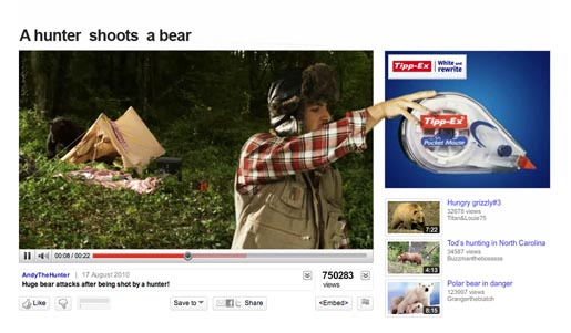 Tippex Shoot the Bear video