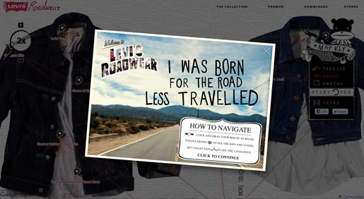 Levis Roadwear site