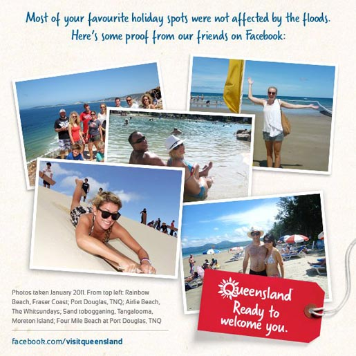 Visit Queensland Facebook Postcards