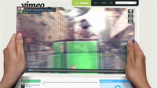 Becks Green Box Vimeo takeover