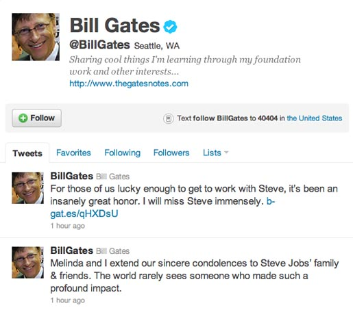 Bill Gates Tribute to Steve Jobs