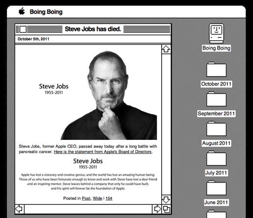 BoingBoing Tribute to Steve Jobs