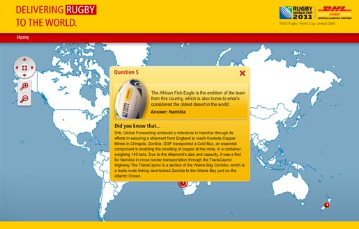 DHL Rugby World Cup quiz