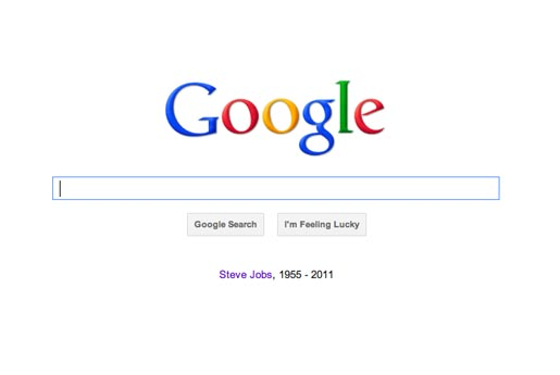 Google Tribute to Steve Jobs