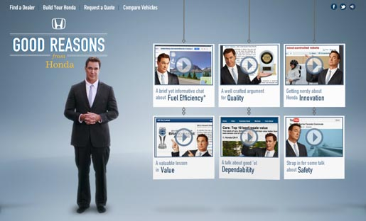 Honda Good Reasons Site with Patrick Warburton
