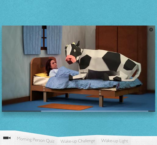 Philips Morning Person Wake Up Challenge - Cow
