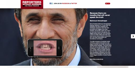 Reporters without Borders Ahmadinedjad