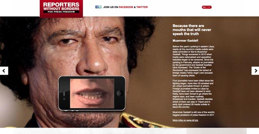 Reporters without Borders Gaddafi