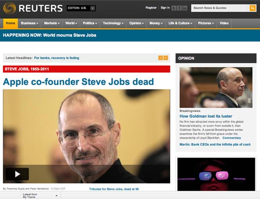 Reuters Tribute to Steve Jobs