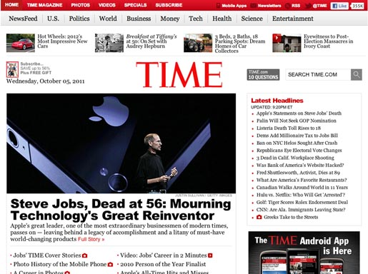 Time Tribute to Steve Jobs