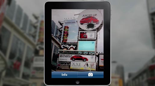 Volkswagen 2012 Beetle Augmented Reality iPad Screen