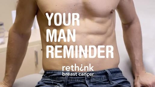 Rethink Breast Cancer Man Your Reminder app