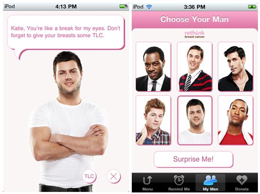 Rethink Breast Cancer Your Man Reminder app