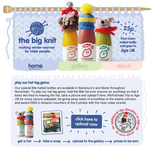 Innocent Big Knit Hat Tag game