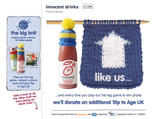 Innocent Drinks Facebook page