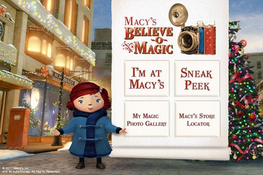 Macys Believe o Magic app