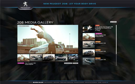 Peugeot Let Your Body Drive Media Gallery