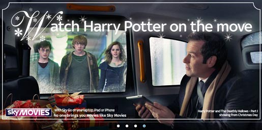 Sky Movies Christmas Offer with Harry Potter