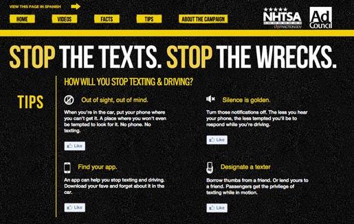 Stop the Texts site