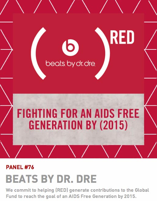Beats by Dre (Red) Quilt panel