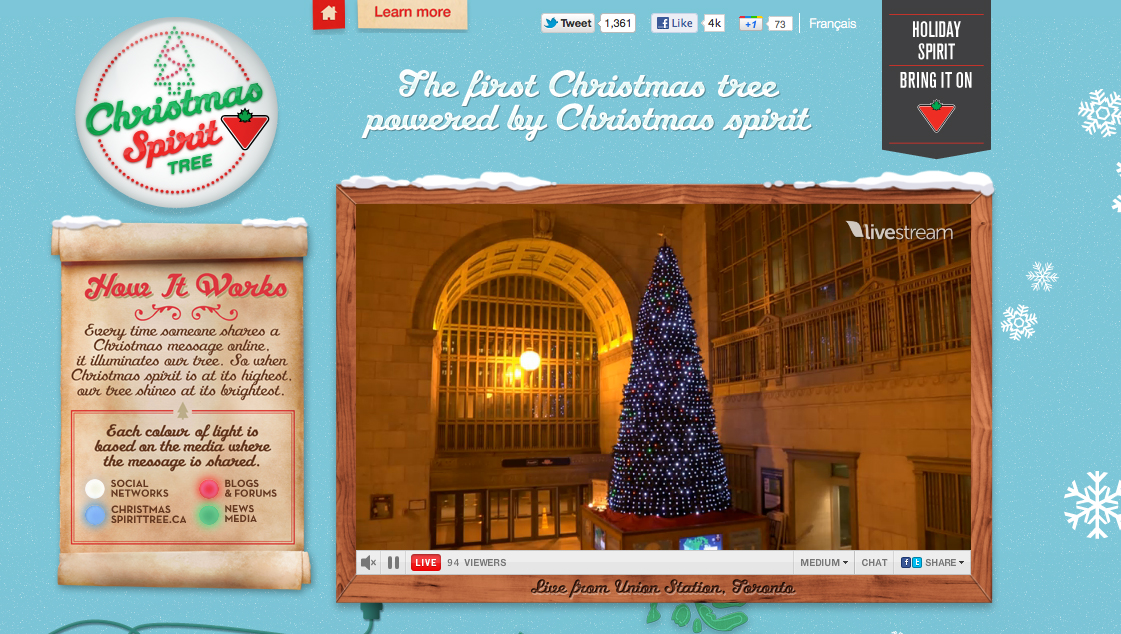 Canadian Tire Christmas Spirit Tree - Canadian Tire Christmas Spirit Tree - The Inspiration Room