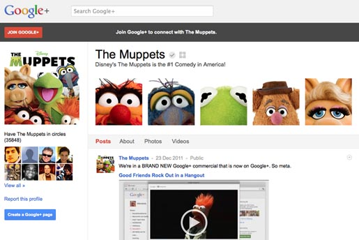 Google+ The Muppets