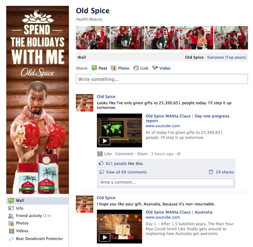 Old Spice Facebook Page
